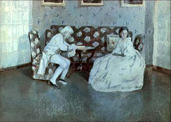 Картина В.Э. Борисова-Мусатова. Экскурсия в Тарусу.
